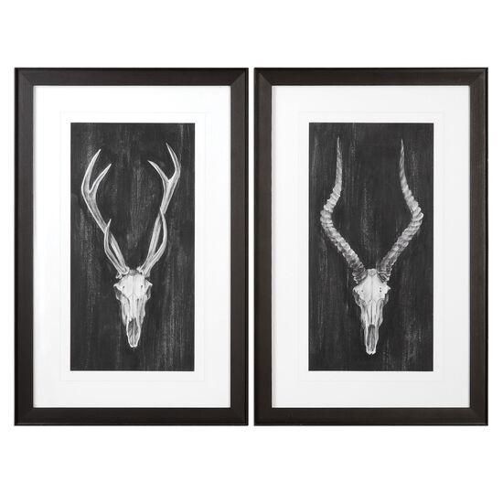 Two-Piece Framed European Mounts Printed Wall Art Set