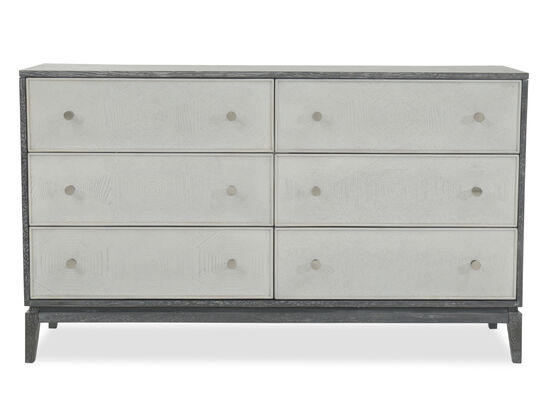 34'' Six-Drawer Contemporary Accent Chest in Black