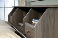 MB Home Malibu Diamond Ash Full/Queen Bookcase Headboard