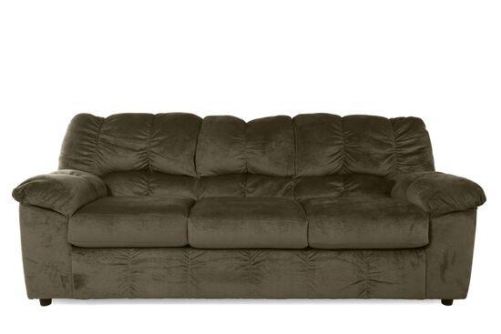 """Casual Microfiber 90"""" Sofa in Dune"""