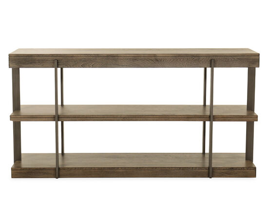 Contemporary Sofa Table in Brown