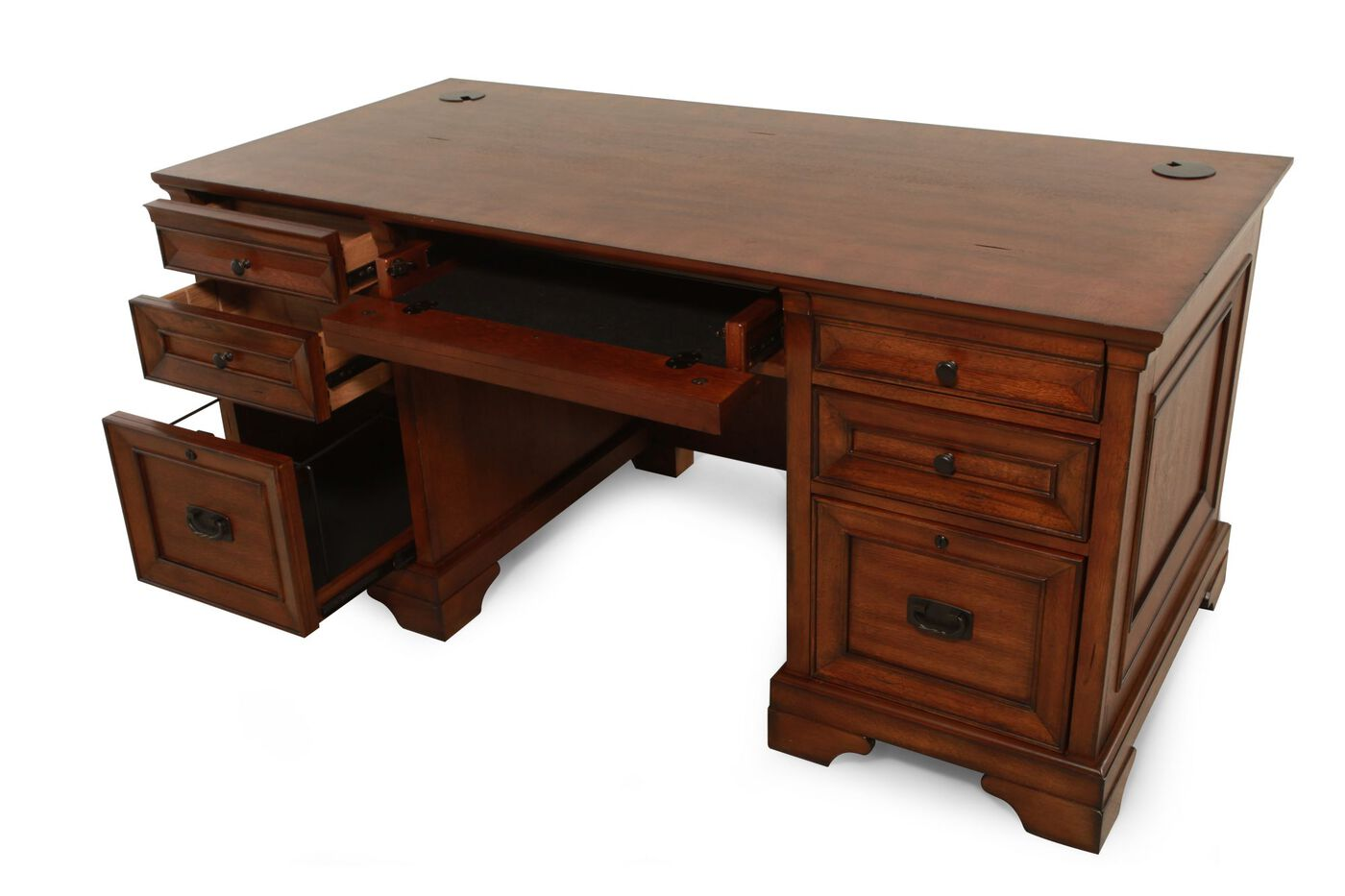 66 Seven Drawer Traditional Executive Desk