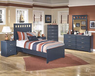 Ashley Leo Blue Two-Drawer Nightstand