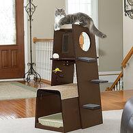 MB Home Golden Gate Espresso Modular Modern Cat Tower