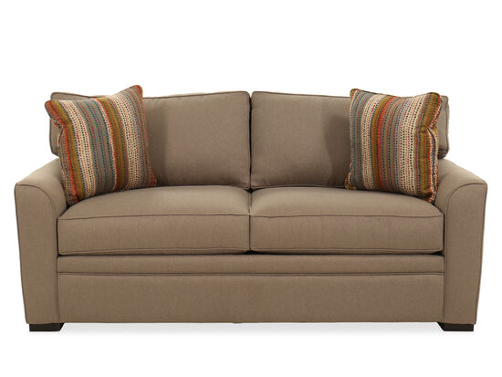 "Casual 82"" Full Sleeper Sofa in Brown"