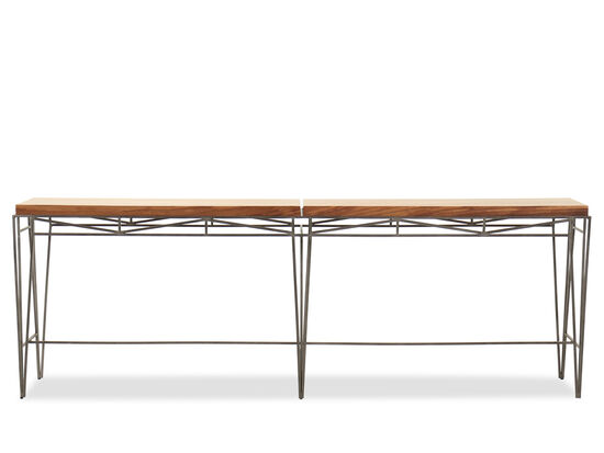 Rectangular Casual Sofa Table in Pewter
