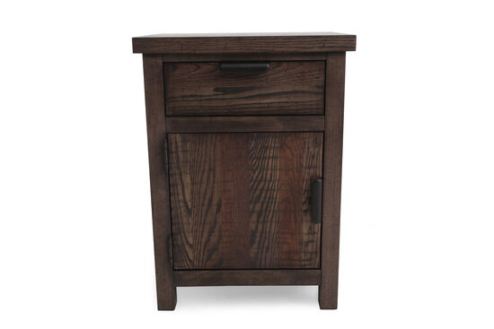 "28"" Contemporary Rustic Nightstand in Tawny Brown"