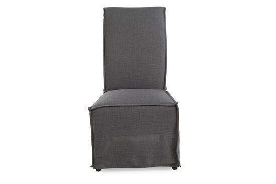 Casual 43'' Armless Dining Chair in Dark Gray