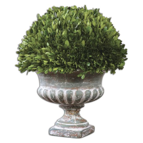 Planted Garden Urnin Stony Gray