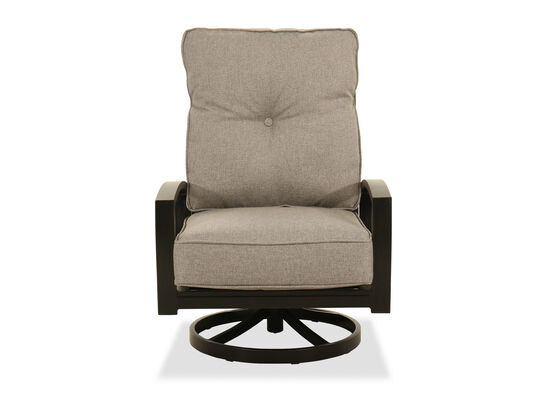 contemporary swivel lounge chair in light gray mathis brothers