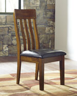 Slat Back 40'' Side Chair in Brown