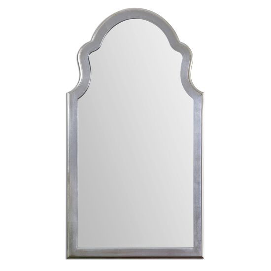"48"" Arched Mirror in Antique Silver Leaf"