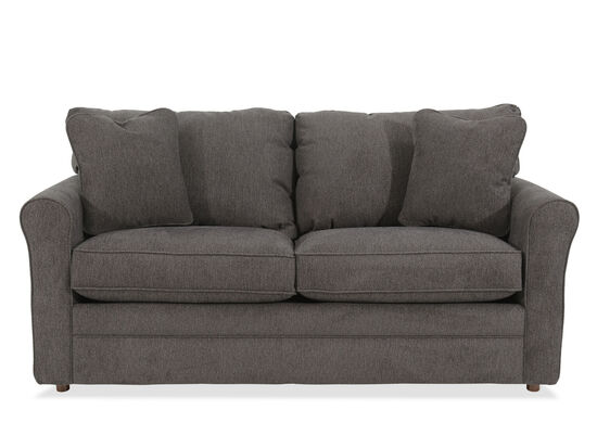 "Casual 73.5"" Full Sleeper Sofa in Gray"