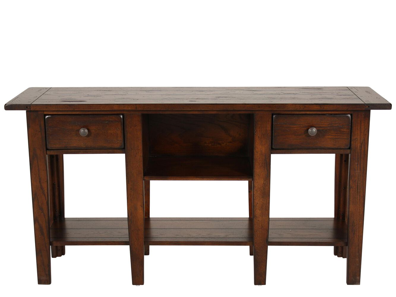 Broyhill Attic Heirlooms Rustic Sofa Table | Mathis Brothers Furniture