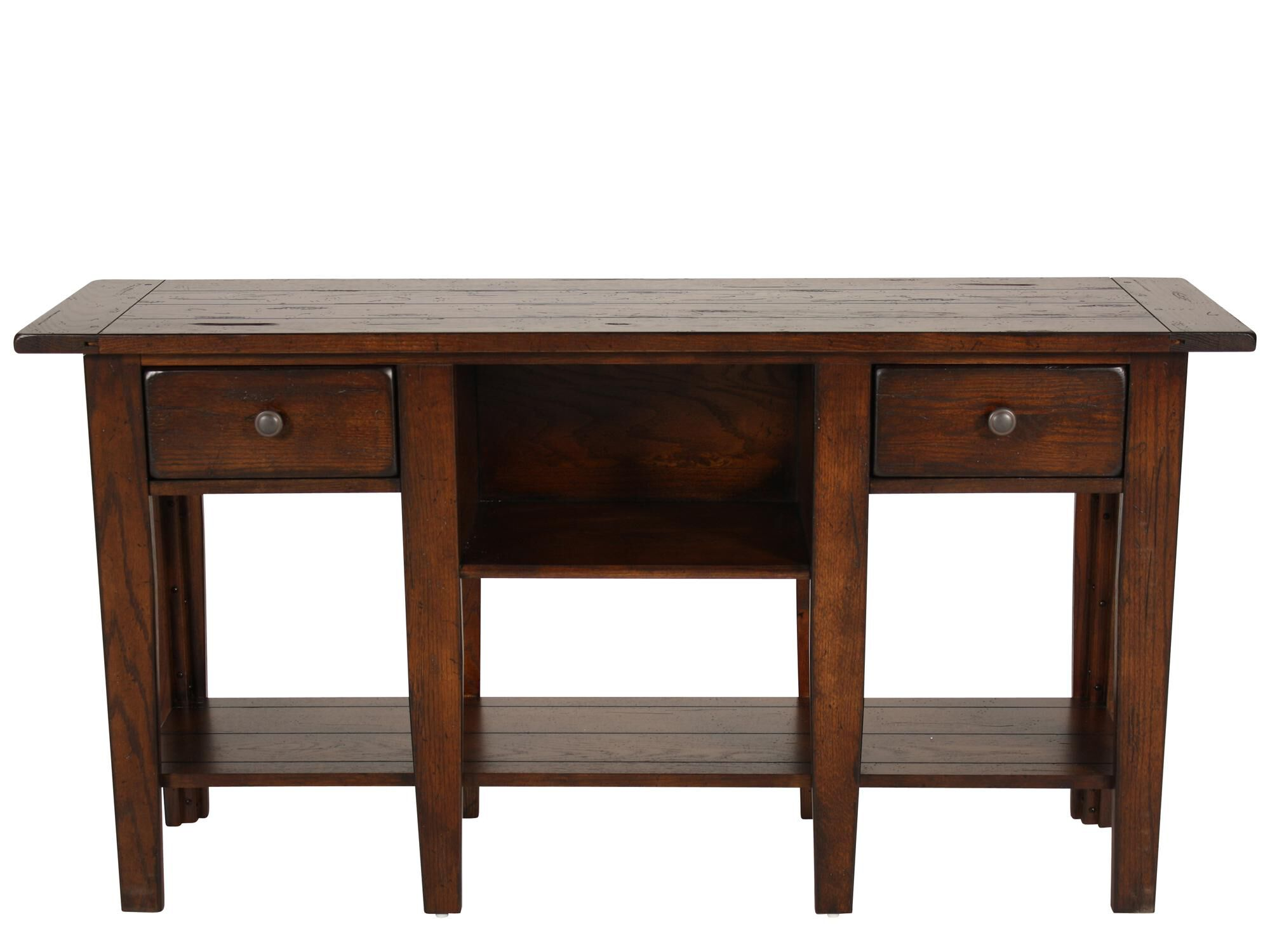 Images Two Drawer Country Sofa Table In Dark Oak Two Drawer Country Sofa  Table In Dark Oak