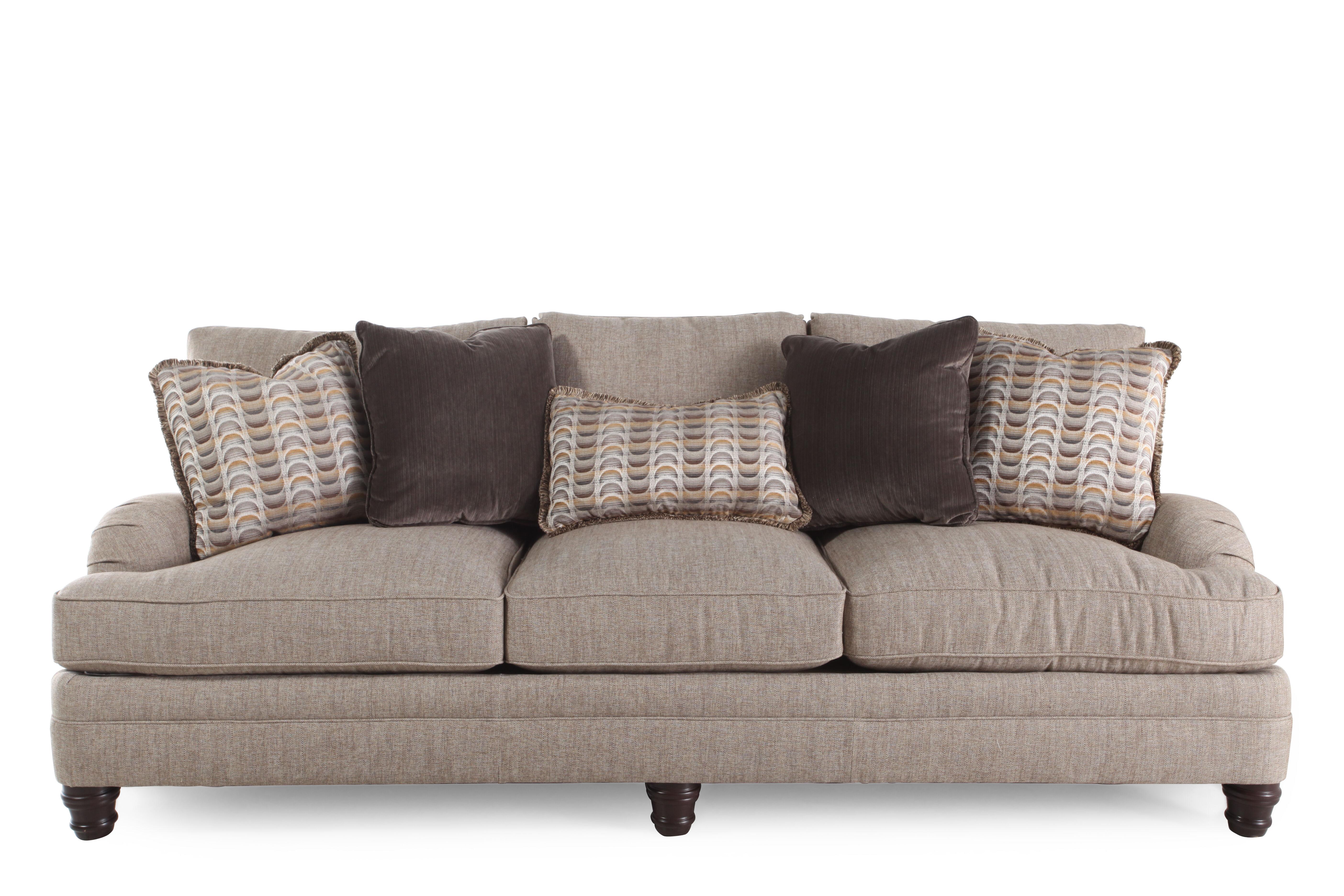 Superb European Classic 96.5u0026quot; Sofa In Sandy Brown