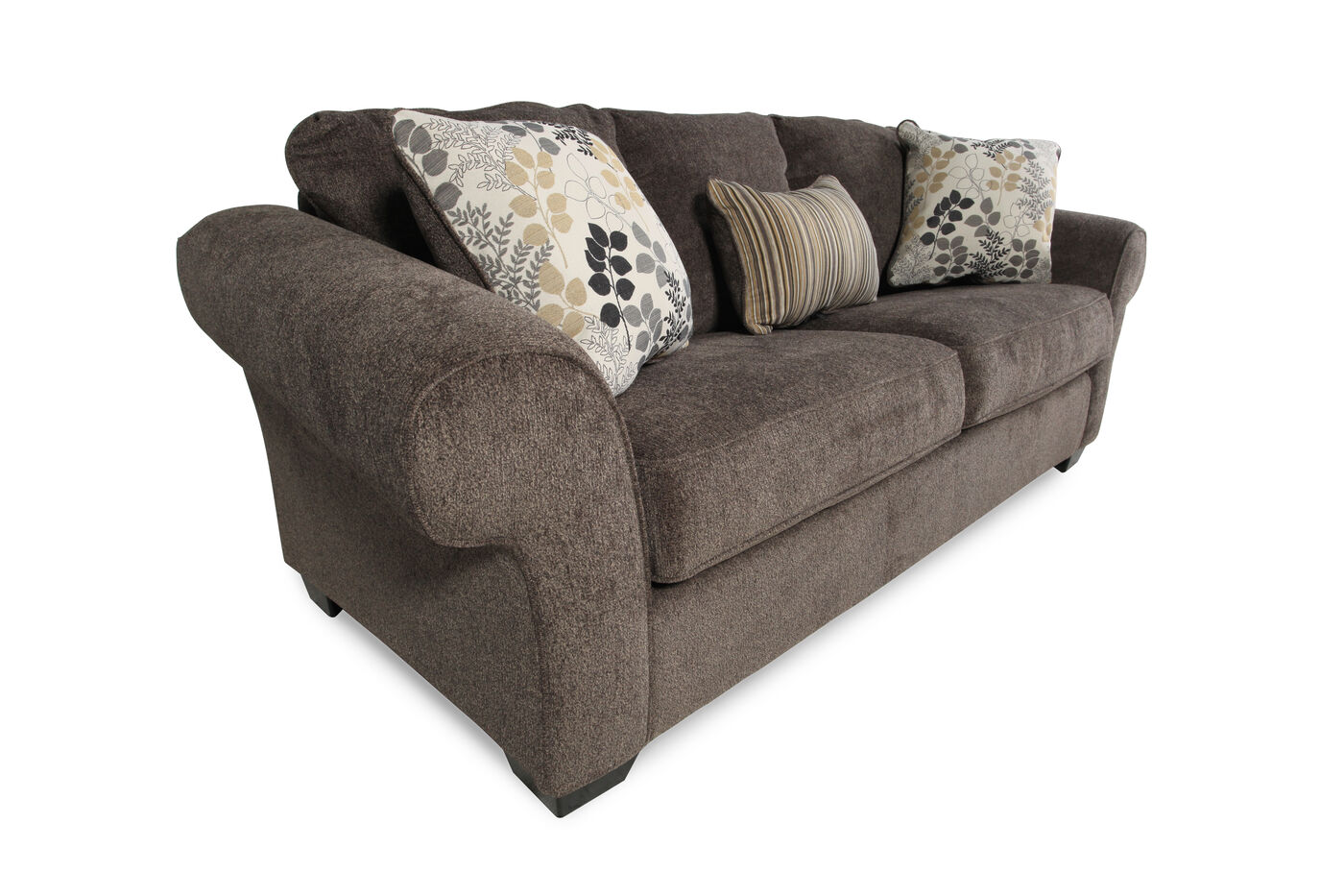 92 rolled arm sofa in charcoal gray mathis brothers furniture. Black Bedroom Furniture Sets. Home Design Ideas