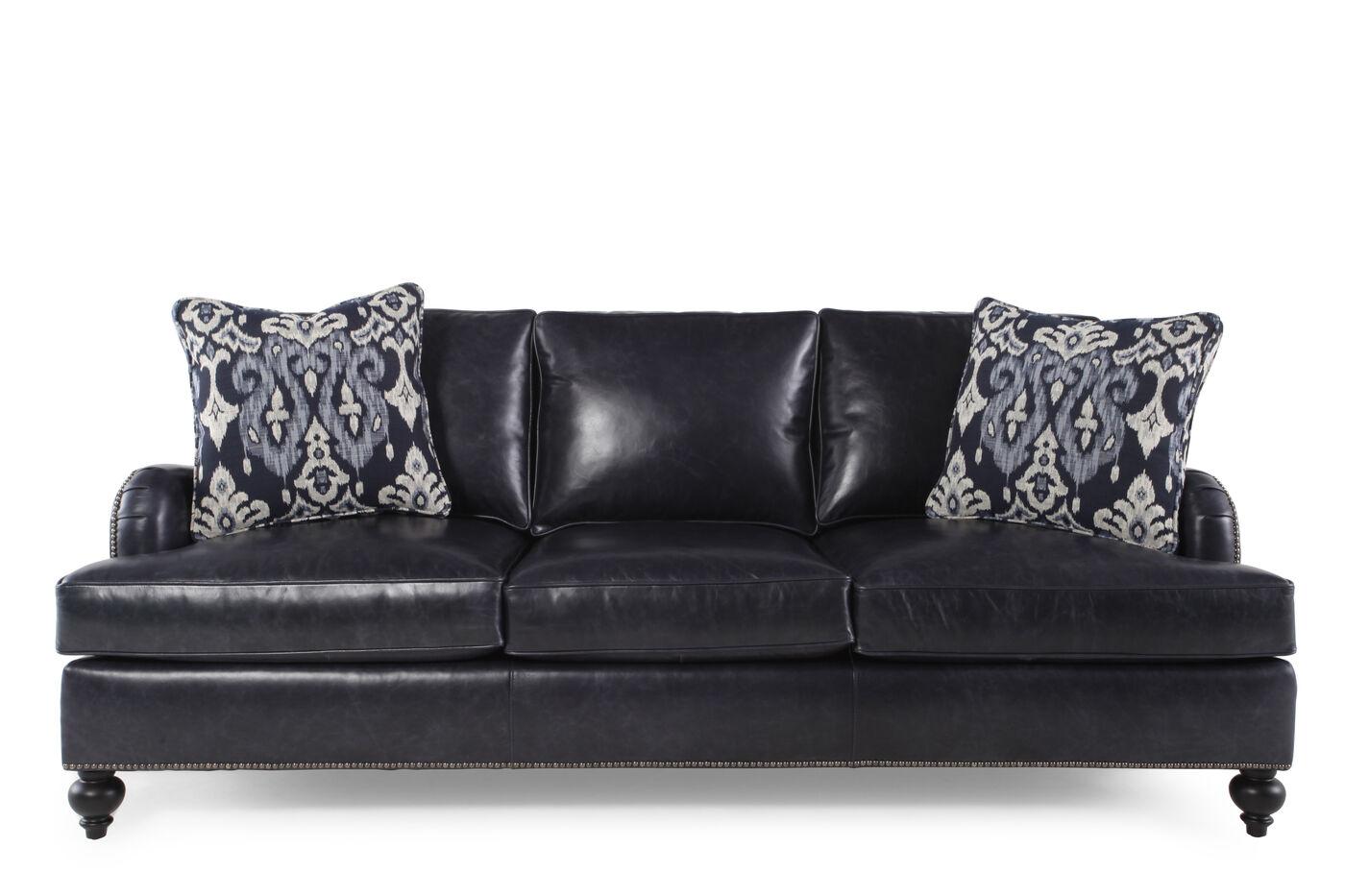 Bernhardt Beckford Leather Sofa