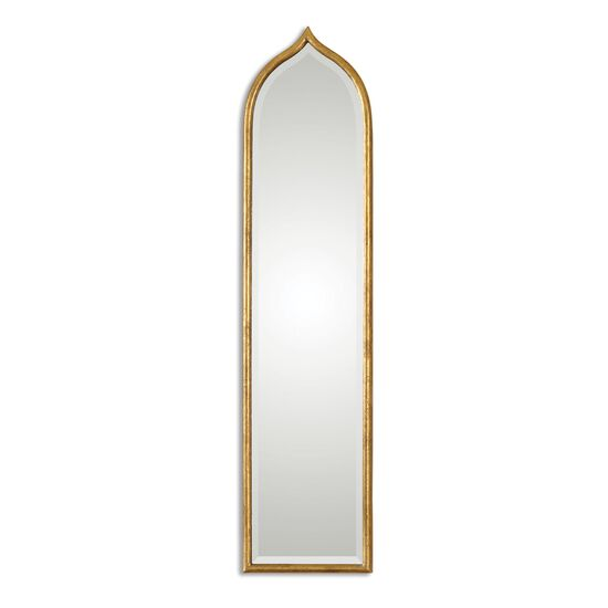 """50"""" Beveled Accent Mirror in Antiqued Gold Leaf"""
