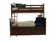 Legacy Tara Cherry Twin Over Full Storage Bunk Bed