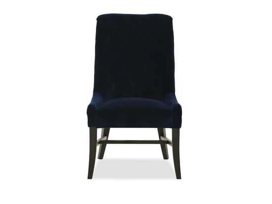 "Winged 25"" Tufted Back Dining Chair in Indigo"