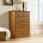 "40"" Contemporary Four-Drawer Chest in Carolina Oak"