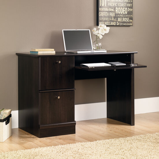 "46.5"" Transitional Two-Drawer Computer Desk in Cinnamon Cherry"