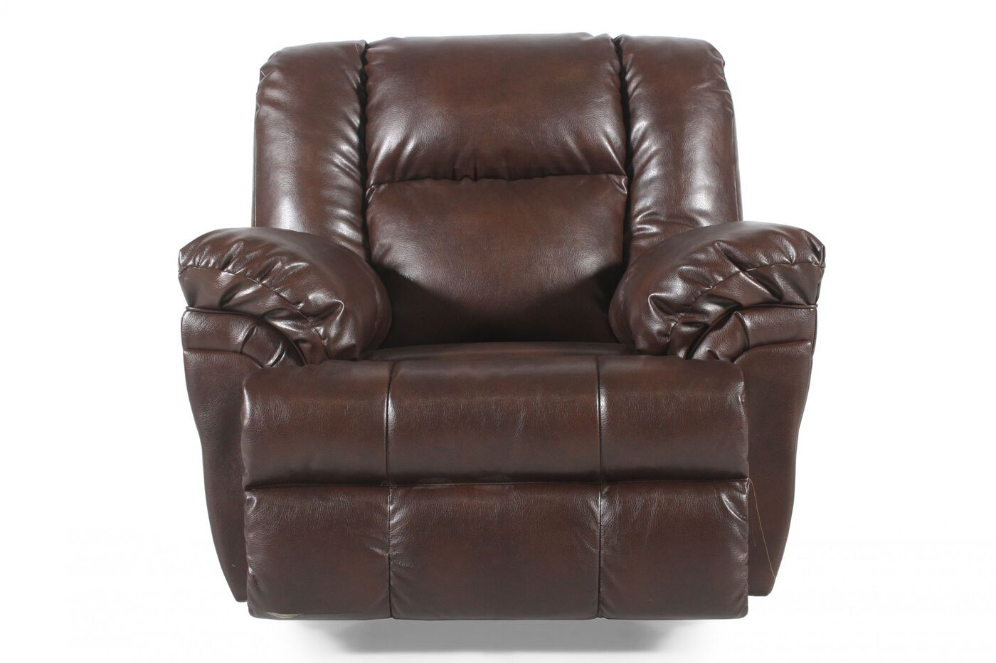 Leather Pillow Top Arm 47 Quot Recliner In Dark Brown Mathis