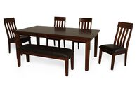 Six-Piece Casual Dining Set in Brown