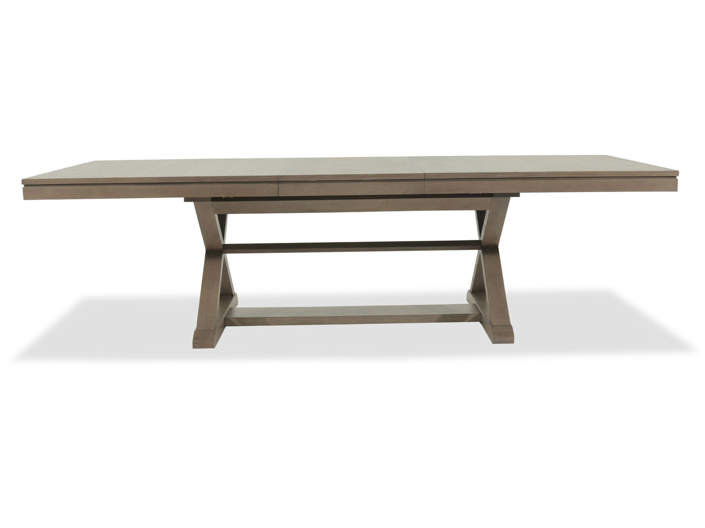 """84"""" to 108"""" Rectangular Trestle Table in Relaxed Brown"""