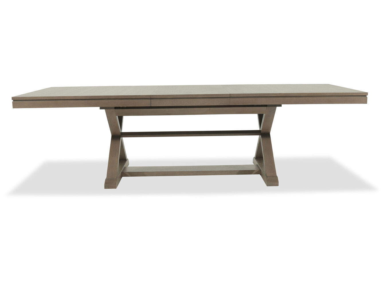 84 to 108 rectangular trestle table in relaxed brown for 108 inch dining room table