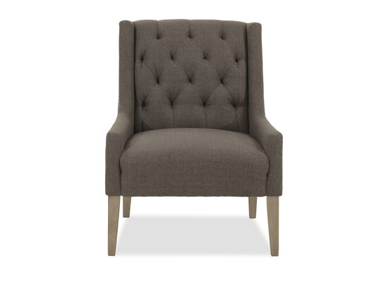 Tufted Casual Accent Chair in Gray