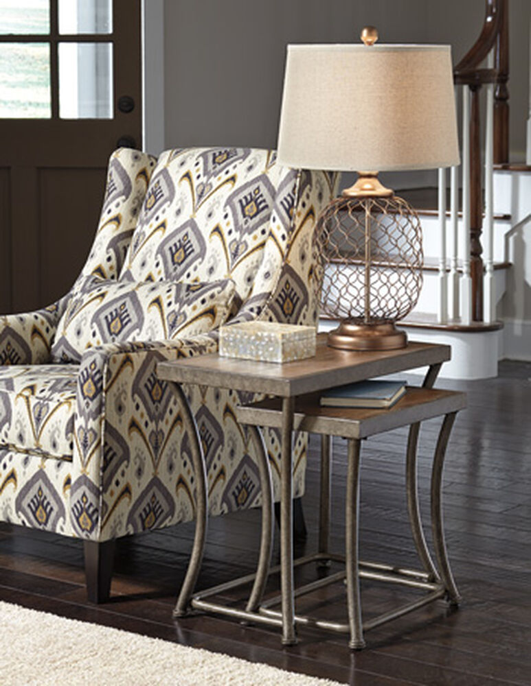 Rectangular Casual Nesting End Tables in Light Brown ...