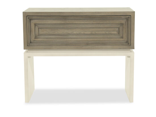 """30"""" Modern One-Drawer Nightstand In Rustic Gray"""