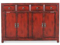 40'' Four-Drawer Transitional Cabinet in Dark Red