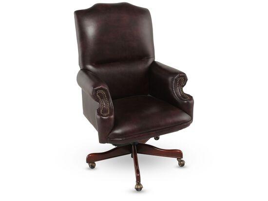 Leather Executive Swivel Tilt Chairin Rich Brown