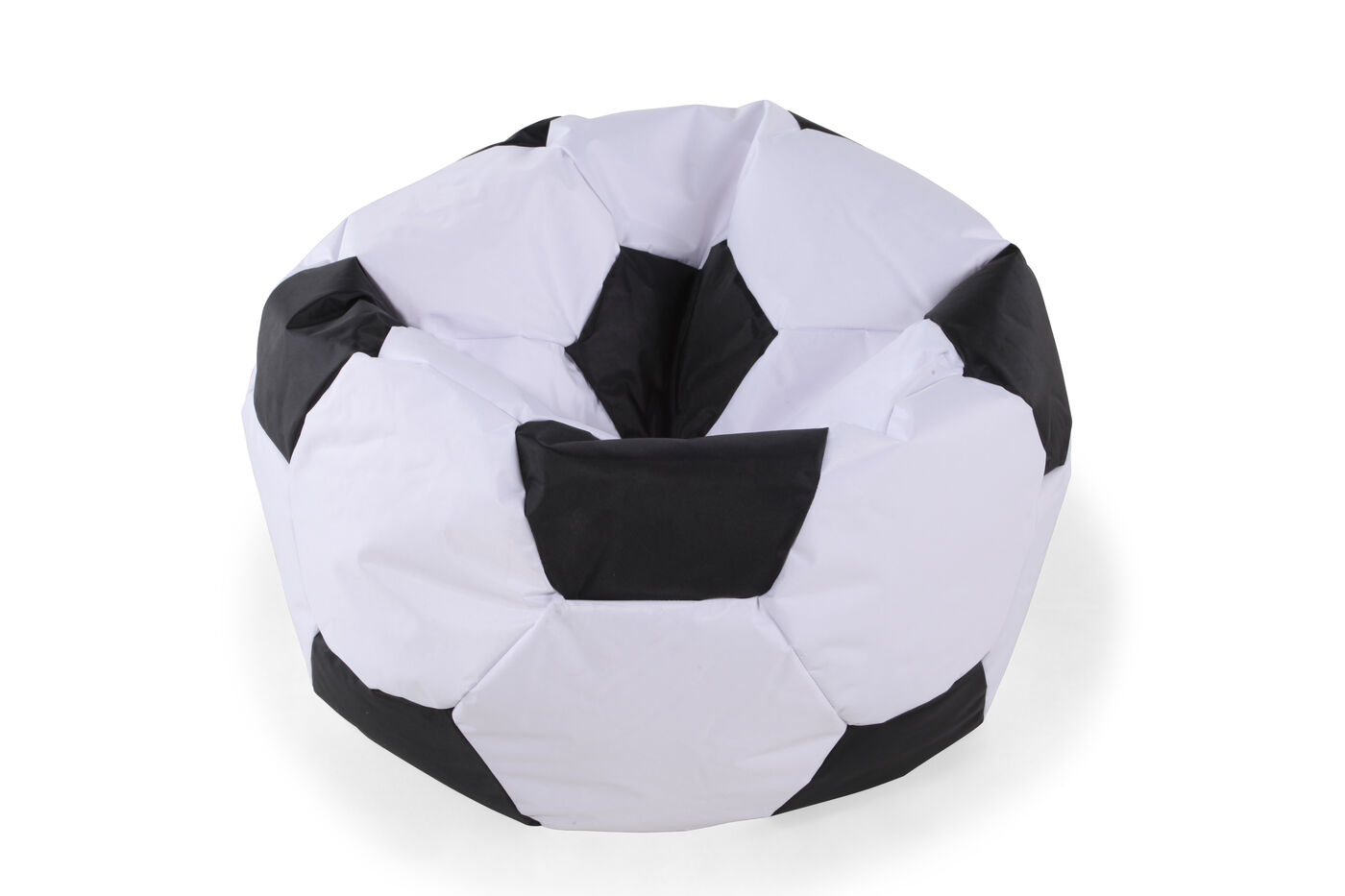 Casual Soccer Ball Youth Bean Bag Chair In White Mathis