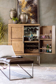 Casual Bar Cabinet in Gray