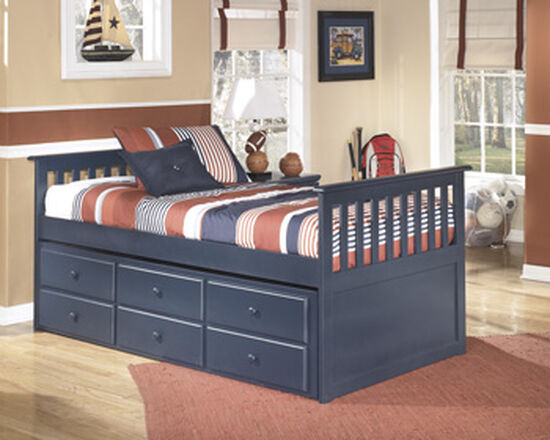 Casual Youth Twin Trundle Drawer Box in Blue