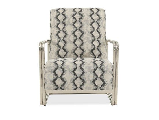 """Low-Profile Contemporary 29"""" Accent Chair in Beige"""