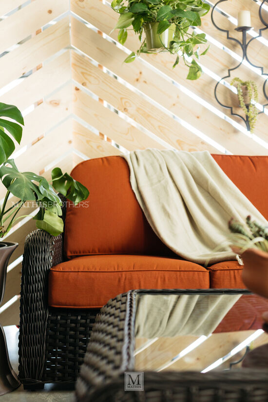 Three-Seater Casual Sofa in Orange