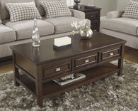 Ashley Larimer Dark Brown Rectangular Cocktail Table
