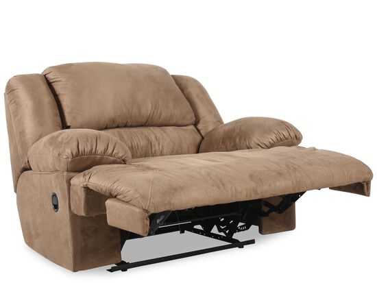"Oversized Contemporary Microfiber 59"" Recliner in Mocha"
