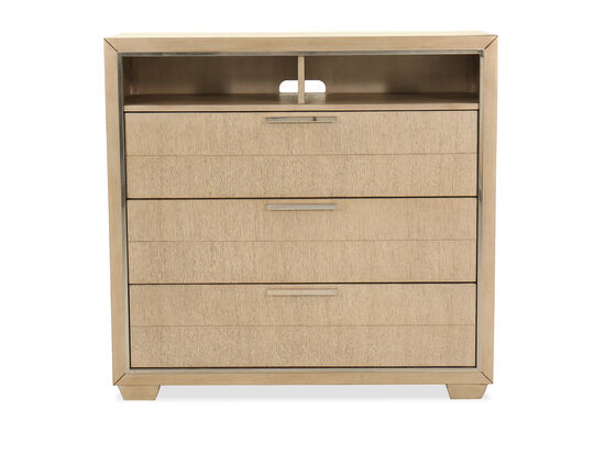"""42"""" Transitional Media Chest in Brown"""
