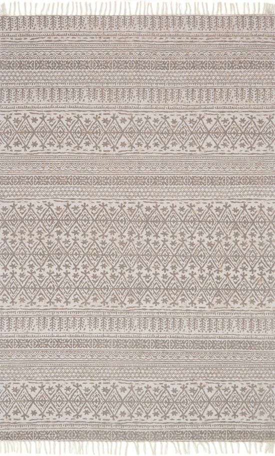 """Transitional 1'-6""""x1'-6"""" Square Rug in Beige"""