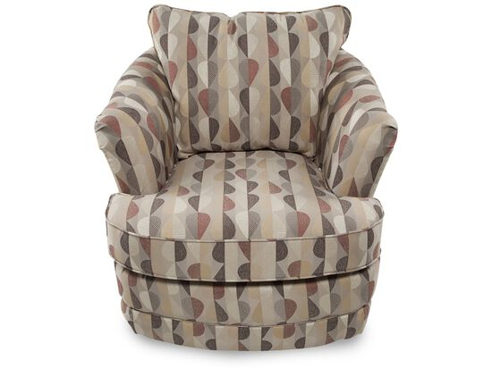 Patterned Contemporary Swivel Chair