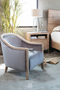 """Casual 29"""" Accent Chair in Gray"""