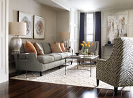 "Bernhardt 108.5"" Four-Cushion Sofa in Pearl Gray"