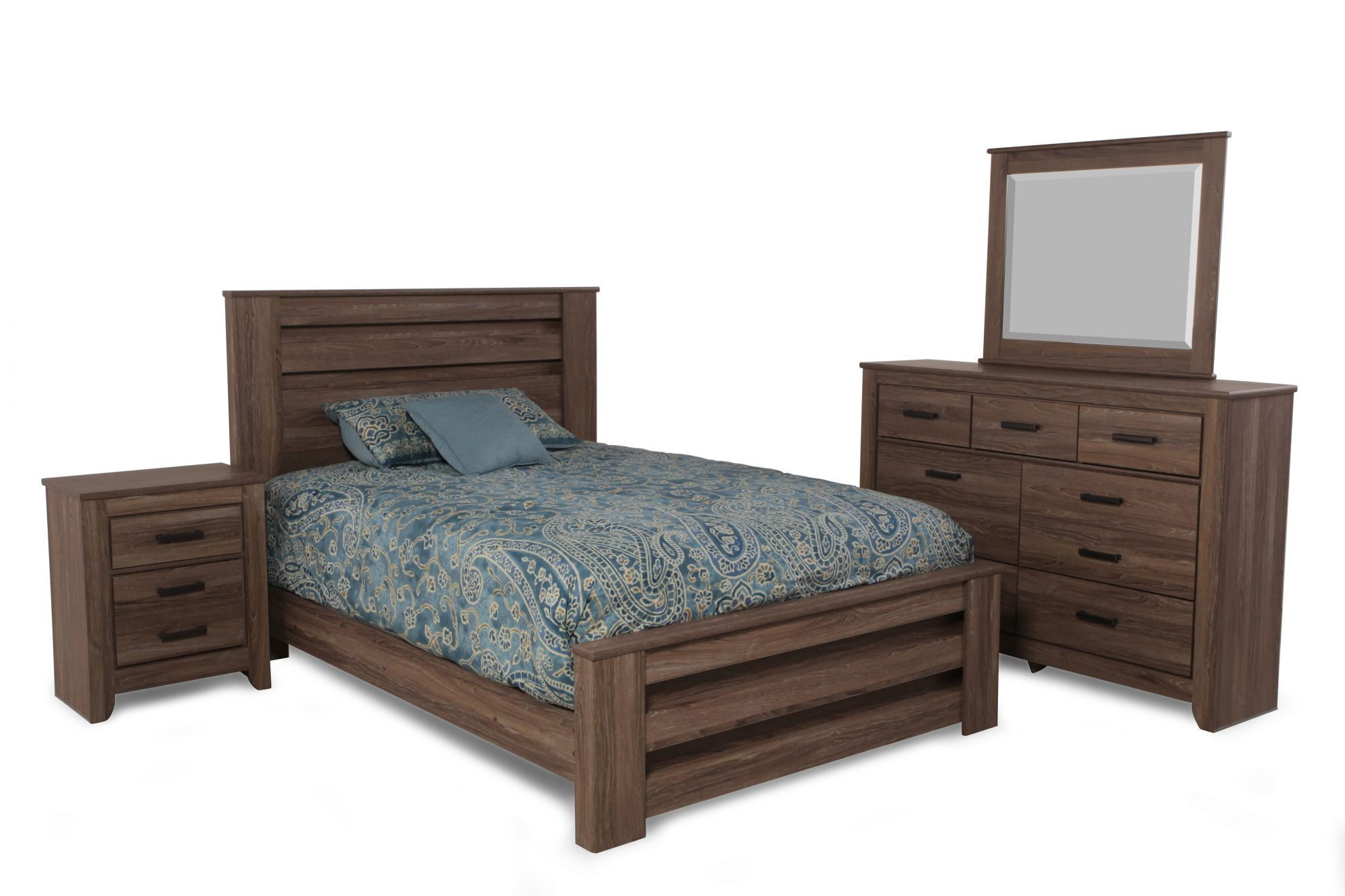 Images Four Piece Casual Bedroom Set In Chestnut Four Piece Casual Bedroom  Set In Chestnut