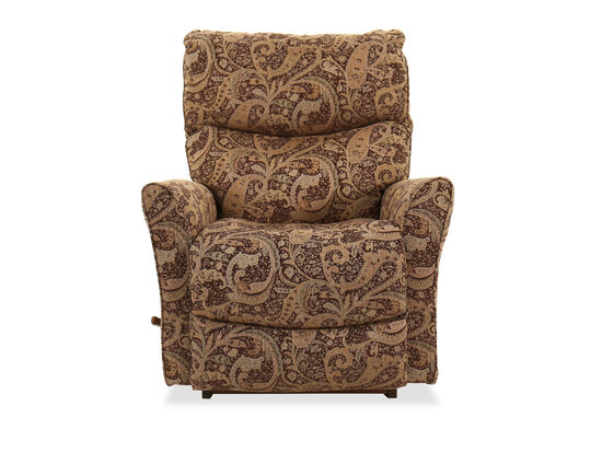 "Floral Tapestry Casual 39"" Recliner in Mocha"